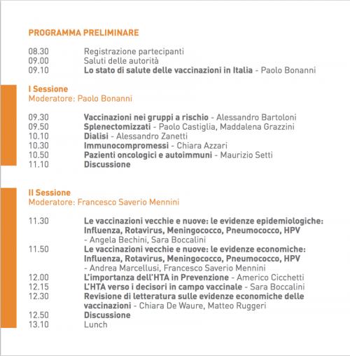 I & II Sessione - Programma